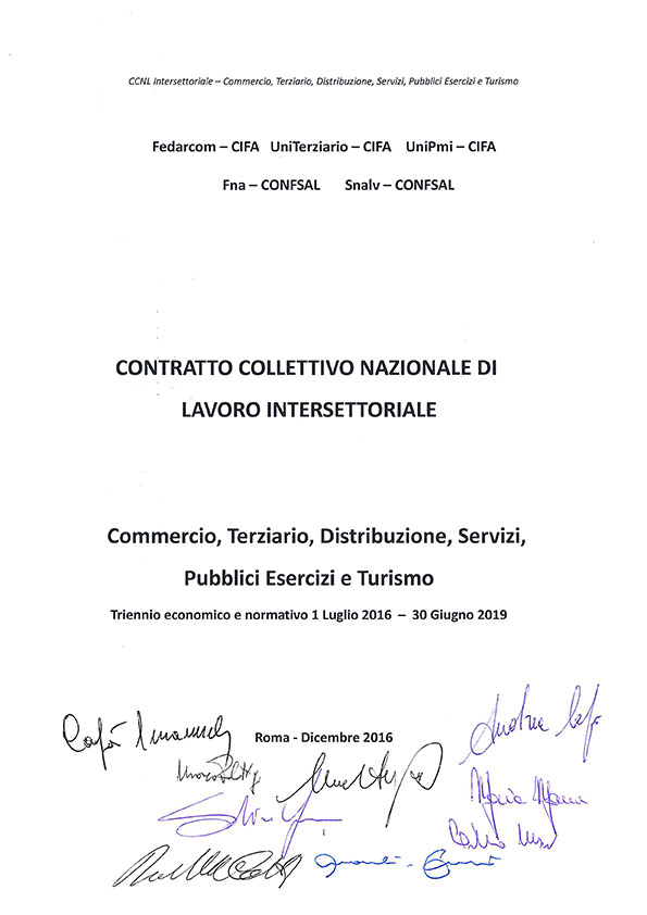 CCNL INTERSETTORIALE 2016-2019